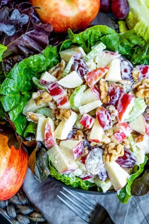 easy classic Waldorf Salad for potlucks