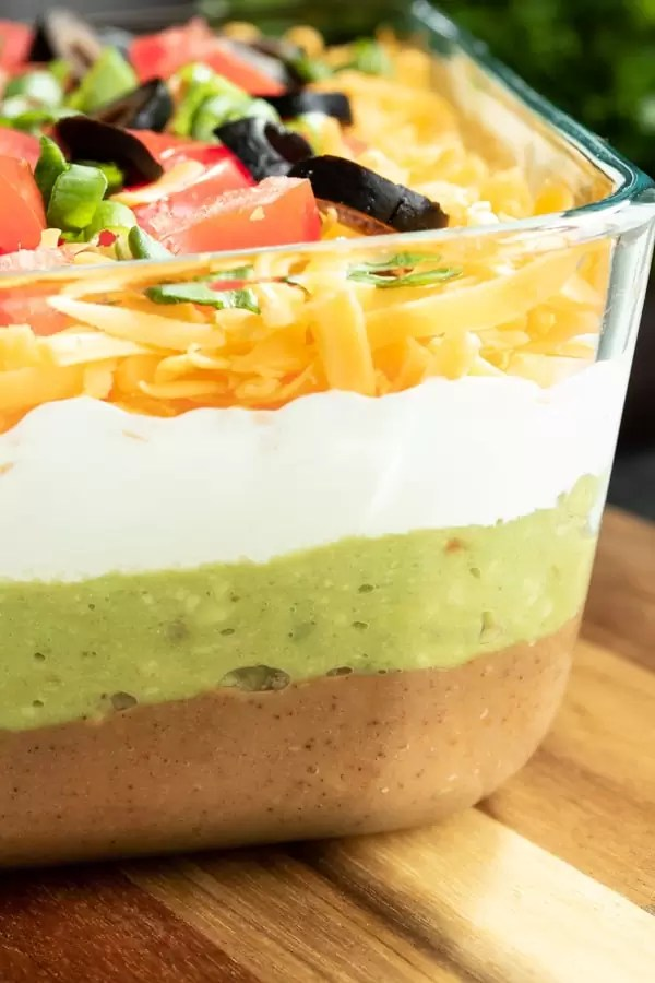 perfectly layered 7 Layer Dip
