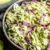 Keto Avocado Coleslaw side dish