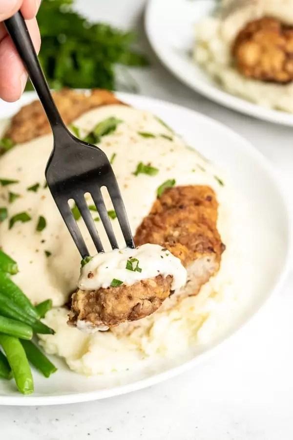 homestyle Chicken Fried Steak comfort food