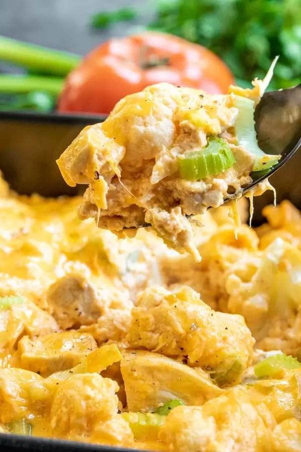 how to make Keto Buffalo Chicken Casserole