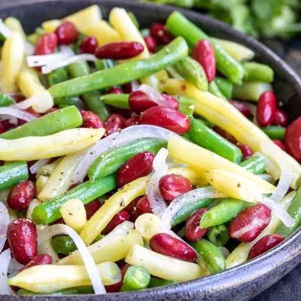 Three bean salad with canned beans