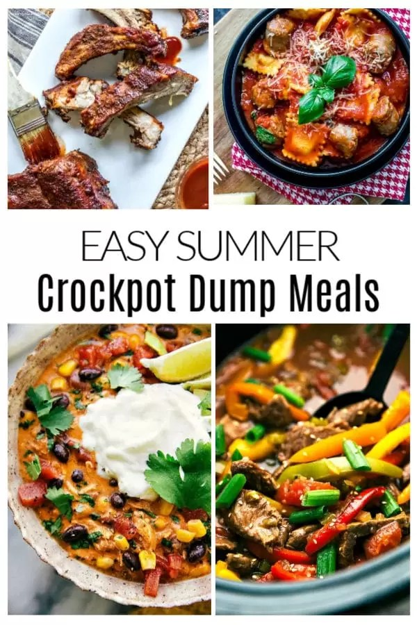 These easy summer crockpot meals, slow cooker meals, and dump meals for the family are great, just dump and go! These easy meal prep recipes and freezer cooking recipes can be thrown in the slow cooker and cooked all day while you are out having fun. These Crockpot recipe ideas are perfect for dinner on busy nights. #slowcooker #crockpot #mealprep #dinner #summer #homemadeinterest