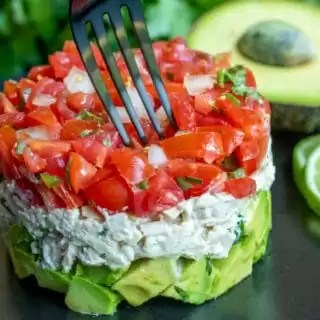 low carb lunch Avocado Tuna Salad