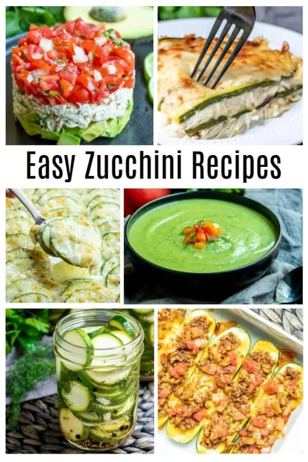 Easy zucchini recipes for everything from baked casseroles, to fried zucchini, to healthy, low carb, and keto recipes. Easy zucchini recipes that can be sides or dinner , pasta or chips, noodles or stuffed. Make a zucchini lasagna or zucchini soup. We've got a zucchini recipe for everyone! #zucchini #lowcarbrecipes #ketorecipes #healthyrecipes #vegetables #homemadeinterest