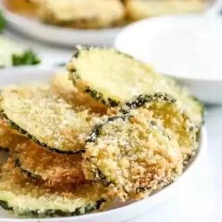 plate of Fried Zucchini