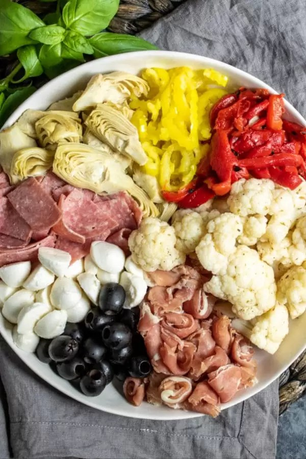 how to make Keto Antipasto Salad