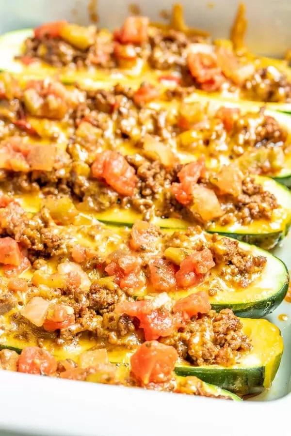 baked Taco Zucchini Boats