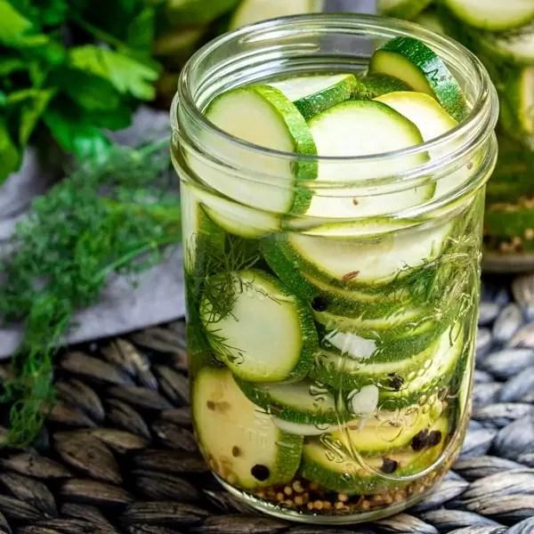 keto Zucchini Pickles