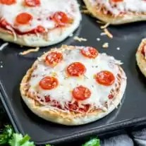 English Muffin Pizza is a great after school snack