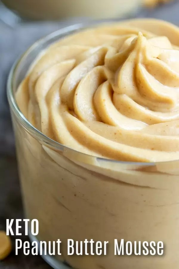 This easy Keto peanut butter mousse is a low carb, gluten-free dessert recipe that is perfect if you're on the keto diet. Just a few simple ingredients whipped together and you have a creamy, peanut butter dessert that will satisfy your low carb sweet tooth. #peanutbutter #lowcarbdiet #keto #ketodiet #lowcarb #dessert #homemadeinterest