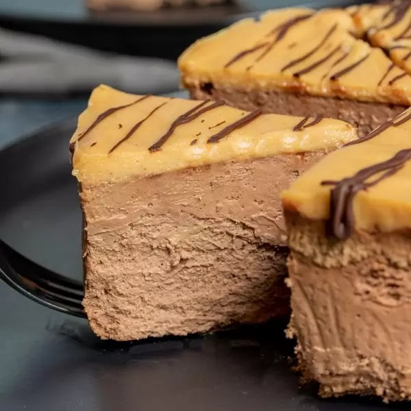 slice of Low Carb Chocolate Cheesecake