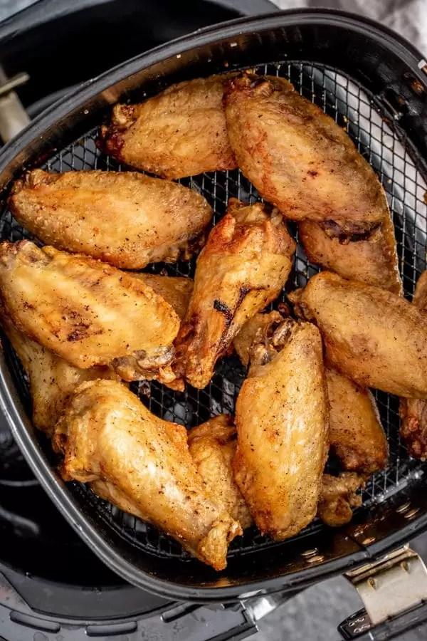 Air Fryer Chicken Wings in air fryer pan