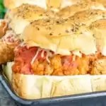easy to make Chicken Parmesan Sliders