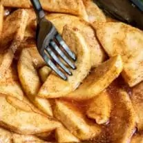 tender and juicy Cinnamon Sugar Baked Apple Slices