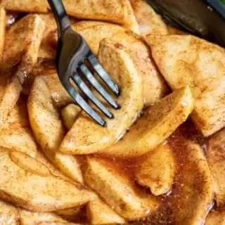 tender and juicy Cinnamon Sugar Baked Apple Slices