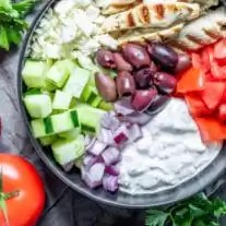 Keto Chicken Gyro Bowl makes a great low carb lunch