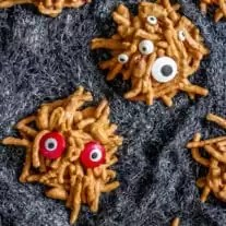 Halloween party dessert No Bake Monster Cookies