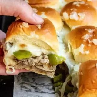 cheesy Philly Cheesesteak Sliders