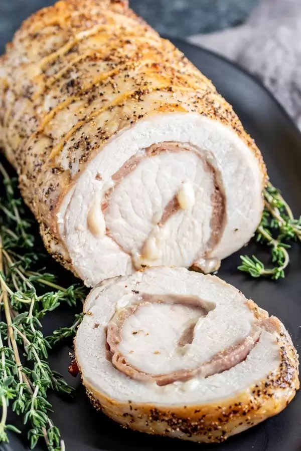 cheesy Stuffed Pork Loin for the holidays
