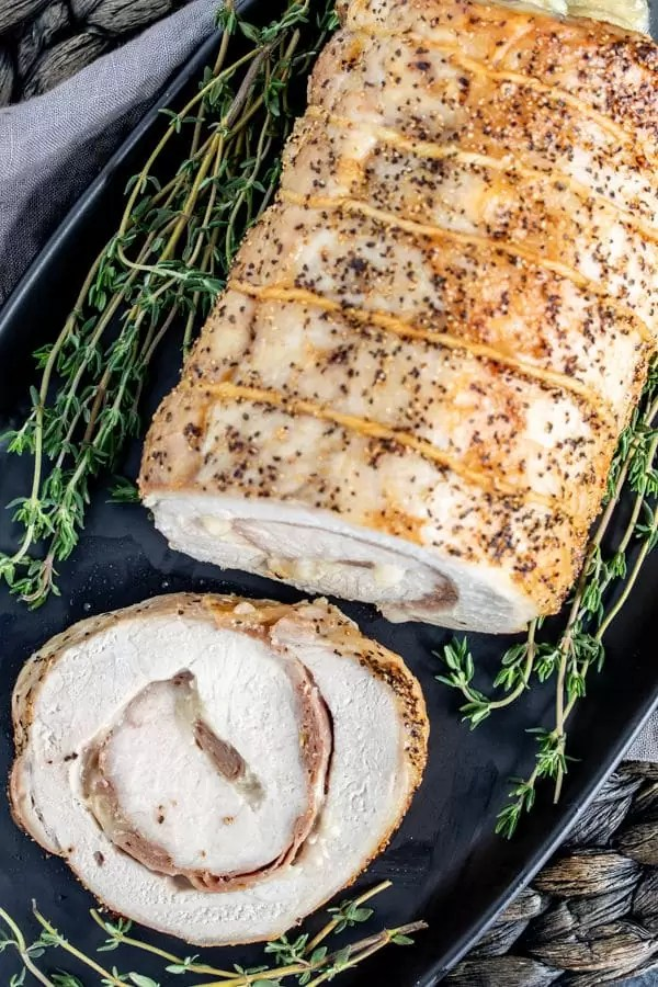 Stuffed Pork Loin with fresh herbs