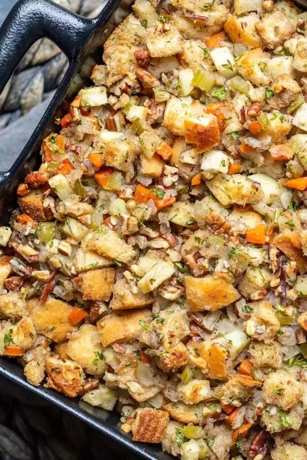 make ahead Thanksgiving stuffing Apple Pecan Stuffing