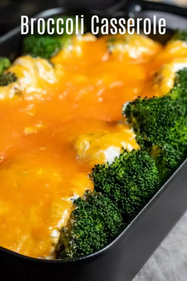 This easy Cheesy Broccoli casserole is a simple baked casserole recipe that is the perfect side dish for a weeknight dinner or a holiday meal like Easter dinner, Thanksgiving dinner, or Christmas dinner. It is the BEST creamy, cheesy, broccoli casserole made with mushroom soup and sour cream. #easter #thanksgiving #christmas #broccoli #cheese #casserole #sidedish #homemadeinterest
