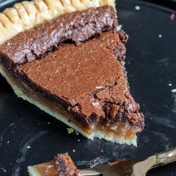 slice of Chocolate Chess Pie
