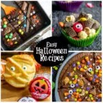 These easy Halloween recipes make great Halloween party food or a super fun Halloween dinner for the kids. These easy Halloween recipe ideas have everything from Halloween party appetizers, to Halloween dinner, Halloween desserts, and Halloween drinks. There is a little something for everyone! #halloweenparty #halloween #halloweenrecipes #partyideas #appetizers #desserts #homemadeinterest