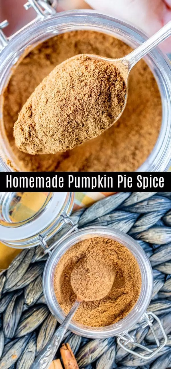 We've got an easy pumpkin pie spice recipe that tells you everything you need to know about how to make pumpkin pie spice at home. This delicious fall spice recipe has lots of uses from desserts, to a latte and it's just simple mix of several common spices. #pumpkinspice #fall #spices #pumpkinpie #homemadeinterest