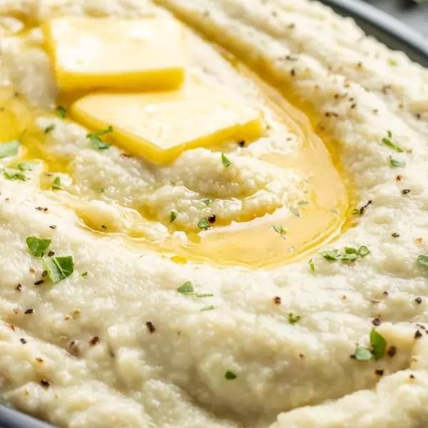 creamy keto cauliflower mash