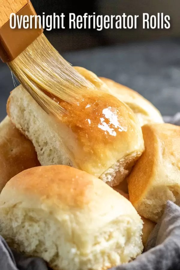This quick and easy recipe for Overnight Refrigerator Yeast Rolls makes soft, fluffy yeast rolls that are perfect for Easter, Thanksgiving, or Christmas. These are make ahead yeast rolls that sit in the refrigerator overnight and then finishing rising the next day before you bake them in the oven. #thanksgiving #christmas #bread #rolls #baking #homemadeinterest