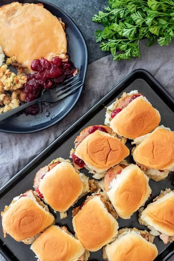 Thanksgiving Leftovers Sliders are an easy sheet pan recipe for Thanksgiving