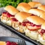 make ahead Thanksgiving Leftovers Sliders sheet pan