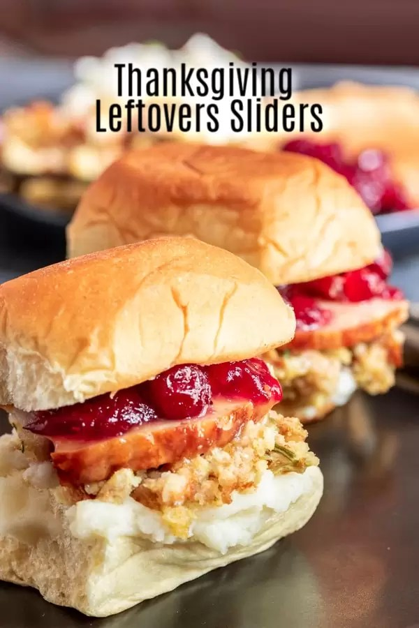 This easy recipe for Thanksgiving Leftovers Sliders is everything you love about Thanksgiving in one bite. Layers of turkey, stuffing, and all of your favorite sides are sandwiched between two sliders buns for the perfect after Thanksgiving sandwich. It's a great way to use Thanksgiving leftovers and to feed a crowd! #thanksgiving #leftovers #sliders #homemadeinterest