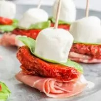 low carb Antipasto Skewers