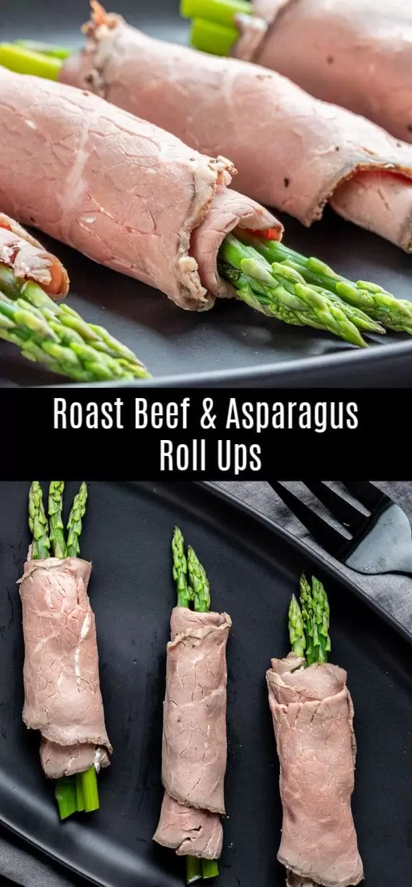 These easy Keto Roast Beef and Asparagus Roll Ups are a quick and easy low carb recipe that makes a great keto lunch or keto appetizer for parties. Roast beef, fresh asparagus, and a cream cheese spread are wrapped together to make a quick and easy lunch recipe that you can make ahead of time or a delicious cold appetizer for parties. #appetizer #lunch #ketorecipes #lowcarbrecipes #keto #asparagus #homemadeinterest