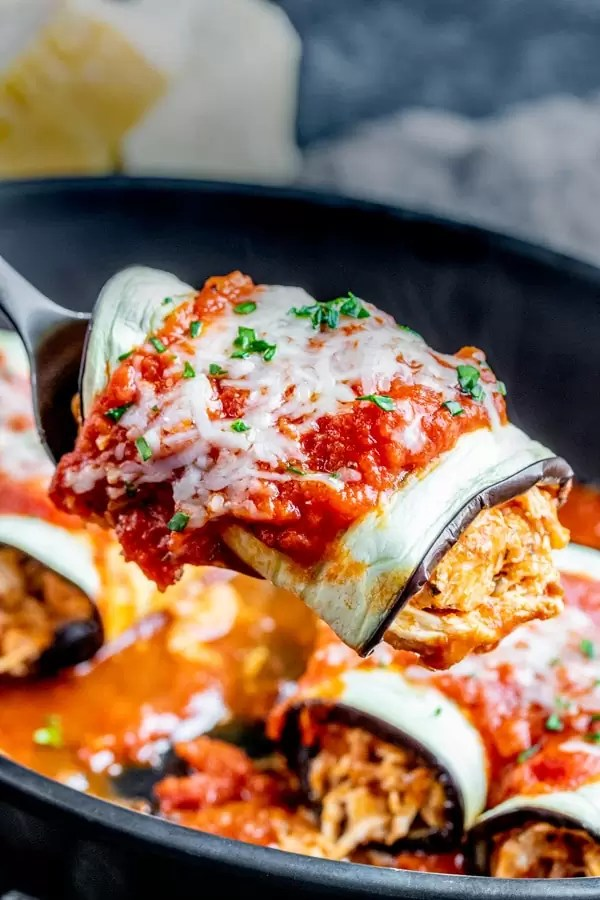 Keto Chicken Parmesan Roll Ups is the perfect low carb dinner for the family