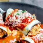 serve Keto Chicken Parmesan Roll Ups for dinner