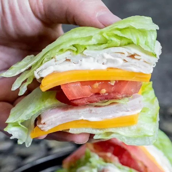 easy Keto Club Sandwich for a low carb lunch