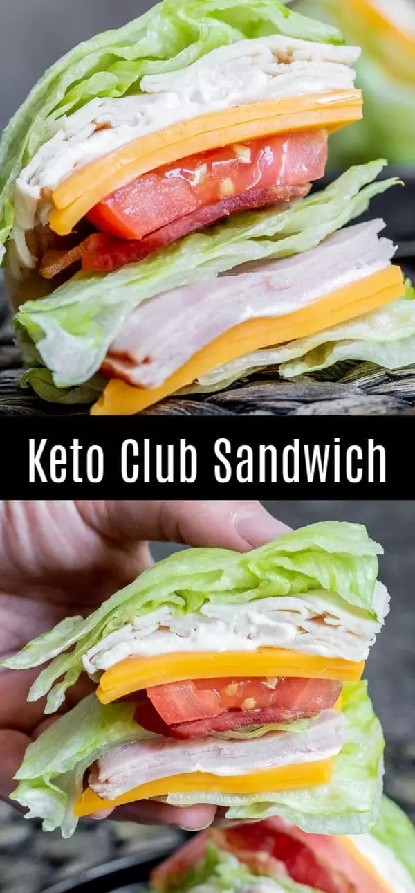 We'll show you how to make a club sandwich that is healthy and low carb! This Keto Club Sandwich is all of the flavors of the classic club sandwich made with turkey, ham, cheese, and bacon, without the bread. It's a delicious keto lunch recipe and perfect for parties! #lowcarbrecipes #ketorecipes #keto #sandwich #homemadeinterest