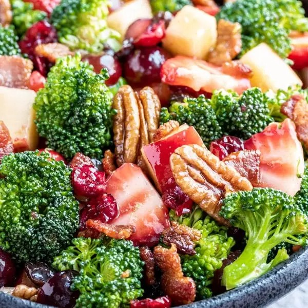 fresh bowl of Broccoli Salad