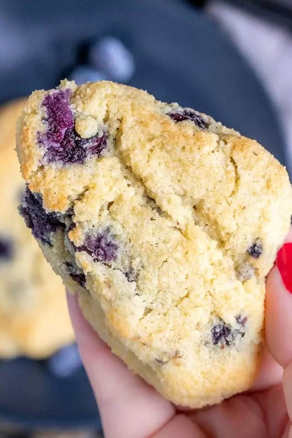 Keto Blueberry Scones is a low carb breakfast treat.