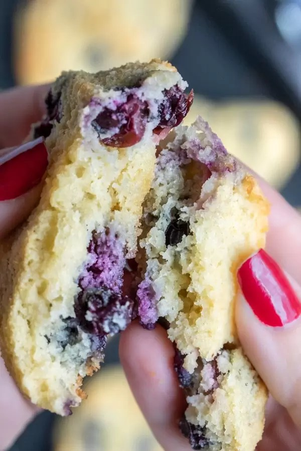 inside of Keto Blueberry Scones