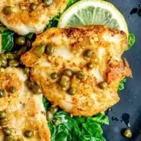 Parmesan crusted chicken thighs used in Keto Chicken Piccata