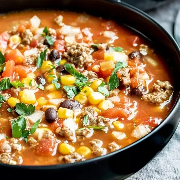 Slow Cooker Taco Soup great comfort food recipe
