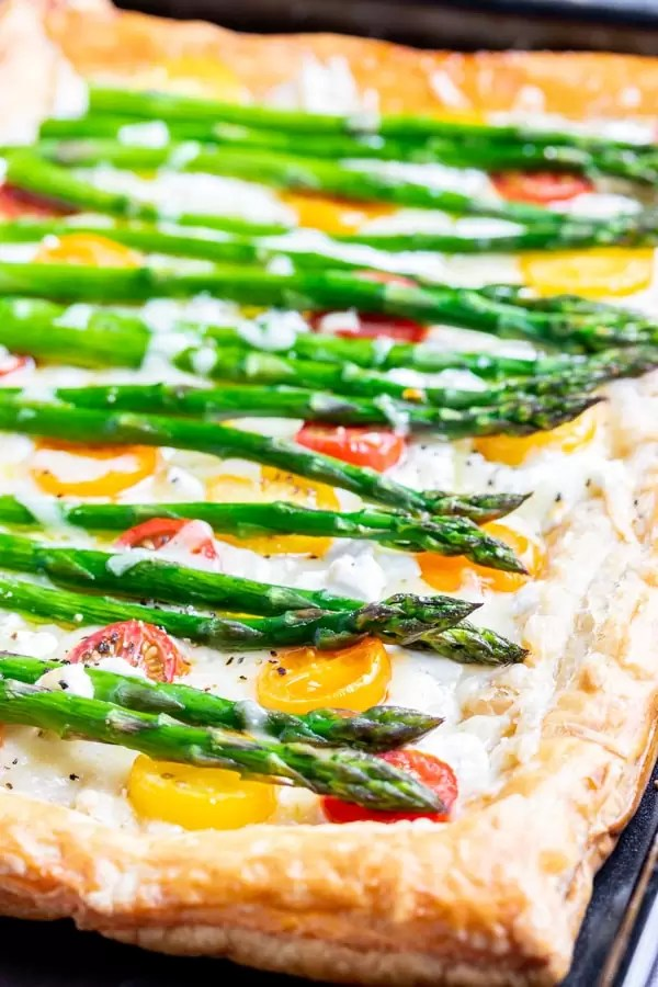 Asparagus Tart is an easy brunch recipe that can be served for Easter