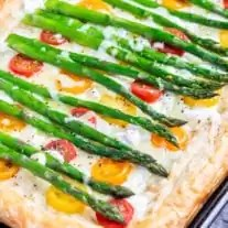 Asparagus Tart is an easy brunch recipe for Easter