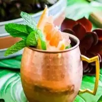 Citrus Moscow Mule in a copper mug