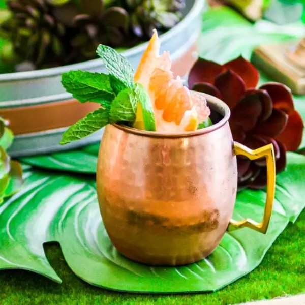 Citrus Moscow Mule easy brunch cocktail for Easter